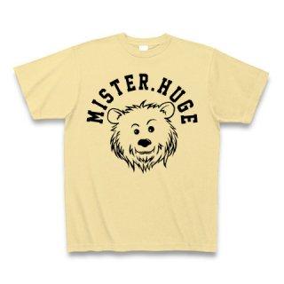 MR.HUGE COOL BEAR LOGO(クールベア)PRINTED Tシャツ ナチュラル×ブラック
