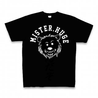 MR.HUGE COOL BEAR LOGO(クールベア)PRINTED Tシャツ ブラック×ブラック