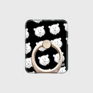 MR.HUGE COOL BEAR LOGO PRINTED SMARTPHONE RING スマホリング ブラック