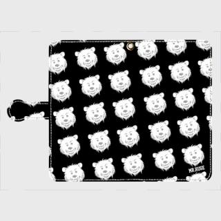 MR.HUGE  COOL BEAR LOGO PRINTED 手帳型 Android PhoneCASE ブラック