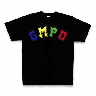 MR.HUGE GMPD LOGO(ジーエムピーディー)PRINTED Tシャツ ブラック×カラー