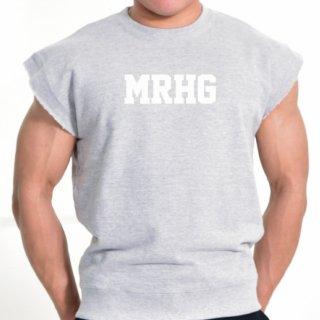 MR.HUGE CUT OFF LOGO HARF SLEEVE SWEAT(カットオフ ハーフ スリーブ スエット)グレー