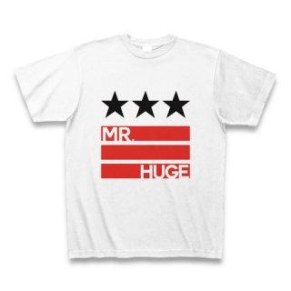 MR.HUGE STAR & LINE IN LOGO(スター&ライン イン ロゴ)PRINTED Tシャツ ホワイト