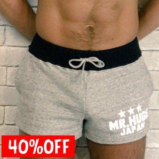 MR.HUGE BYCOLOR SWEAT  SHORT PANTS(バイカラー スエット ショートパンツ)グレー