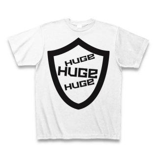 MR.HUGE LOGO PLATE (ロゴ プレート)PRINTED Tシャツ ホワイト