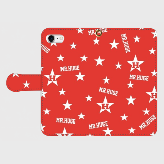MR.HUGE RANDOM STAR & LOGO 手帳型 iPhoneCASE