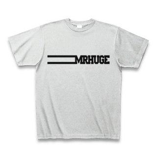 MR.HUGE LINE ROGO(ライン ロゴ) PRINTED Tシャツ グレー×ブラック