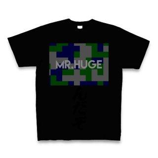 MR.HUGE DEGITAL CAMOFLAGE(デジタル 迷彩) PRINTED Tシャツ ブラック