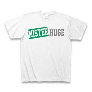 MR.HUGE MISTER&HUGE BOX LOGO (ボックスロゴ) PRINTED Tシャツ ホワイト×グリーン/グレー