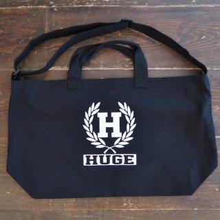 MR.HUGE  H EMBLEM BIG SHOULDER TOTE BAG(Hエンブレム ビッグ ショルダー トート バッグ)ブラック