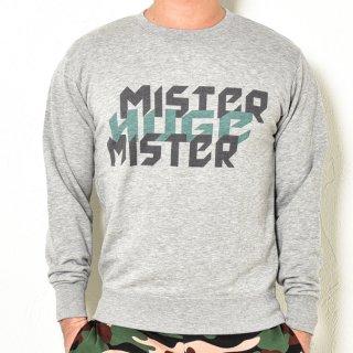 MR.HUGE MISTER&HUGE DEGITAL LOGO SWEAT (ミスター&ヒュージ デジタル ロゴ) スエット グレー