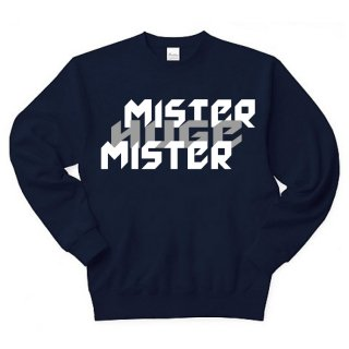 MR.HUGE MISTER&HUGE DEGITAL LOGO SWEAT (ミスター&ヒュージ デジタル ロゴ) スエット ネイビー