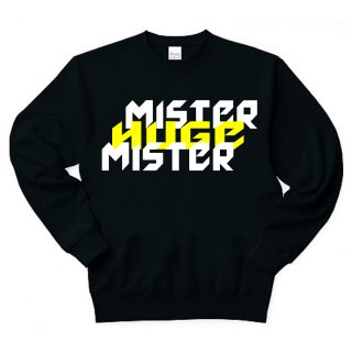 MR.HUGE MISTER&HUGE DEGITAL LOGO SWEAT (ミスター&ヒュージ デジタル ロゴ) スエット ブラック