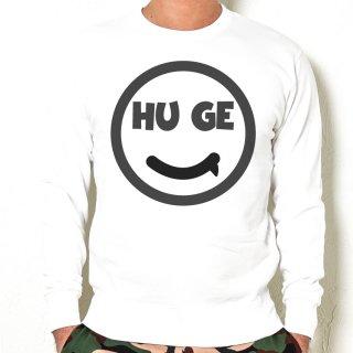 MR.HUGE SMILE HUGE LOGO SWEAT (スマイル ヒュージ ロゴ) スエット ホワイト