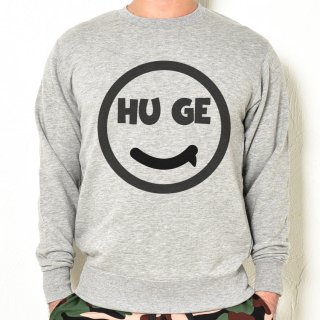 MR.HUGE SMILE HUGE LOGO SWEAT (スマイル ヒュージ ロゴ) スエット グレー