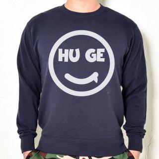MR.HUGE SMILE HUGE LOGO SWEAT (スマイル ヒュージ ロゴ) スエット ネイビー