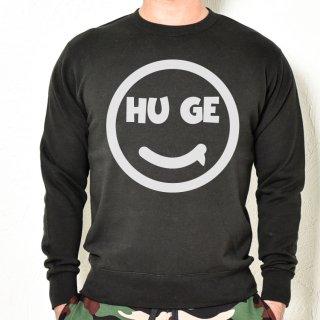 MR.HUGE SMILE HUGE LOGO SWEAT (スマイル ヒュージ ロゴ) スエット ブラック