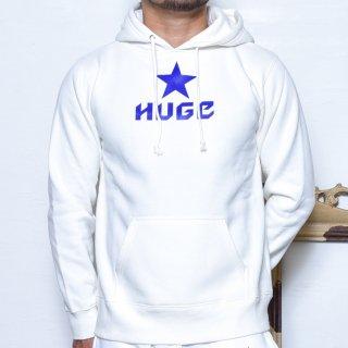 MR.HUGE STAR LOGO  SWEAT PARKA(スター ロゴ スエット パーカー )ホワイト