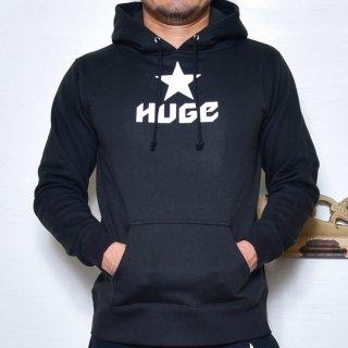 MR.HUGE STAR LOGO  SWEAT PARKA(スター ロゴ スエット パーカー )ブラック
