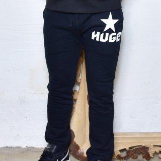 MR.HUGE STAR LOGO SWEAT LONG PANTS(スター ロゴ スエット ロングパンツ )ブラック