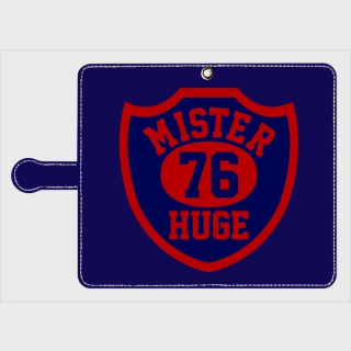 MR.HUGE  76 EMBLEM(76 エンブレム)全面 PRINTED 手帳型 Android PhoneCASE