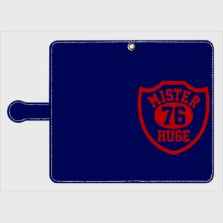 MR.HUGE  76 EMBLEM(76 エンブレム)片面 PRINTED 手帳型 Android PhoneCASE