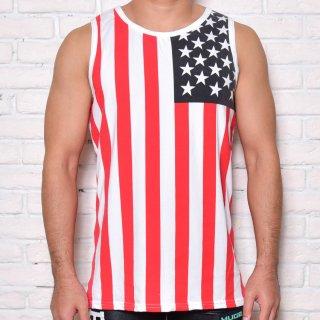 huge AMERICAN FLAG TANKTOP(アメリカン タンクトップ)レッド