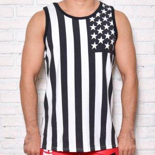 huge AMERICAN FLAG TANKTOP(アメリカン タンクトップ)ブラック