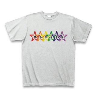 MR.HUGE RAINBOW STAR (レインボー スター)PRINTED Tシャツ アッシュ
