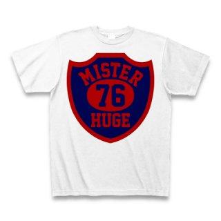 MR.HUGE 76 EMBLEM (76 エンブレム)PRINTED Tシャツ ホワイト