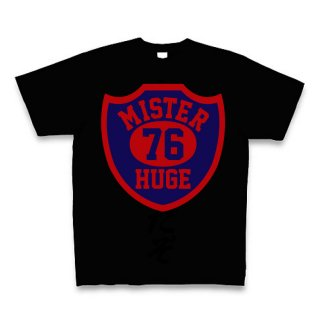 MR.HUGE 76 EMBLEM (76 エンブレム)PRINTED Tシャツ ブラック