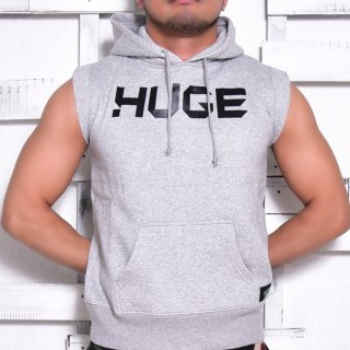 MR.HUGE LOGO CUT OFF  HARF SLEEVE SWEAT(ロゴ カットオフ ハーフ スリーブ スエット)グレー