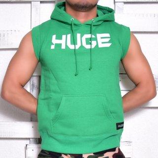 MR.HUGE LOGO CUT OFF  HARF SLEEVE SWEAT(ロゴ カットオフ ハーフ スリーブ スエット)グリーン