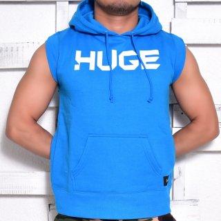 MR.HUGE LOGO CUT OFF  HARF SLEEVE SWEAT(ロゴ カットオフ ハーフ スリーブ スエット)ブルー
