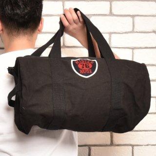 MR.HUGE WAPPEN DUFFLE SHOULDER BAG(ワッペン ダッフル ショルダー バッグ)ブラック