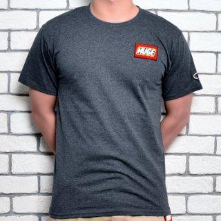 MR.HUGE champion HUGE WAPPEN Tシャツ チャコールグレー