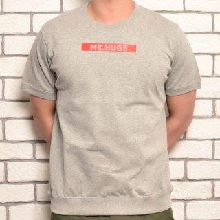 MR.HUGE BOX ROGO SIDE SWITCH T-SHIRTS(ボックスロゴ サイド 切り替え Tシャツ )グレー