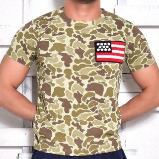 MR.HUGE WAPPEN ON CAMOUFLAGE  T-SHIRTS(ワッペン オン 迷彩 Tシャツ)ベージュ