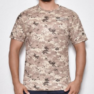 MR.HUGE COOL DRY CAMOUFLAGE T-SHIRTS(クールドライ 迷彩 Tシャツ)デジタルカモ ベージュ