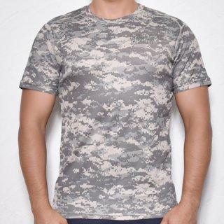 MR.HUGE COOL DRY CAMOUFLAGE T-SHIRTS(クールドライ 迷彩 Tシャツ)デジタルカモ グレー
