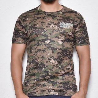 MR.HUGE COOL DRY CAMOUFLAGE T-SHIRTS(クールドライ 迷彩 Tシャツ)デジタルカモ グリーン