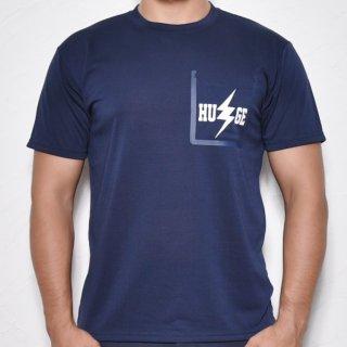 MR.HUGE RUBBER BORDERING POCKET INAZUMA PRINTED T-SHIRTS(ラバー縁取りポケット 稲妻プリント Tシャツ)ネイビー