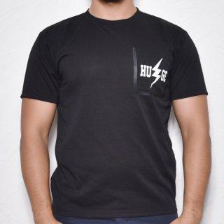 MR.HUGE RUBBER BORDERING POCKET INAZUMA PRINTED T-SHIRTS(ラバー縁取りポケット 稲妻プリント Tシャツ)ブラック