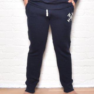 MR.HUGE CROSS ROGO PRINTED SWEAT LONG PANTS(クロス ロゴ プリント スエット ロングパンツ )ネイビー