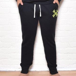 MR.HUGE CROSS ROGO PRINTED SWEAT LONG PANTS(クロス ロゴ プリント スエット ロングパンツ )ブラック