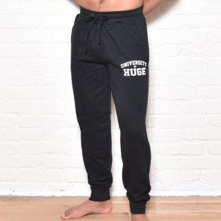 MR.HUGE UNIVERSITY ROGO LOOSE SWEAT PANTS(ユニバース ロゴ ルーズ スエット パンツ)ブラック