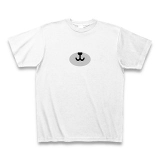 MR.HUGE BEAR NOSE PRINTED Tシャツ ホワイト×グレー