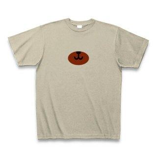 MR.HUGE BEAR NOSE PRINTED Tシャツ シルバーグレー×ブラウン
