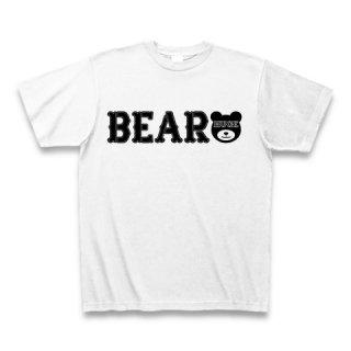 MR.HUGE BEAR ROGO PRINTED Tシャツ ホワイト×ブラック