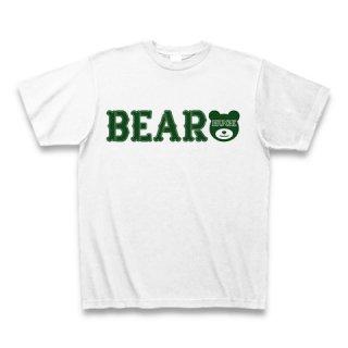 MR.HUGE BEAR ROGO PRINTED Tシャツ ホワイト×グリーン